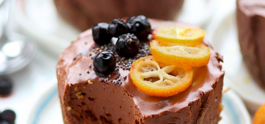 Petits cheesecakes au chocolat et à la noisette