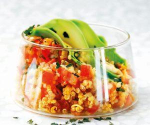 Salade de quinoa aux paillettes d'algues